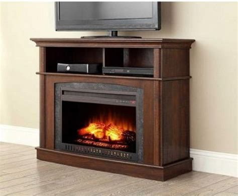 electric fireplace media entertainment center