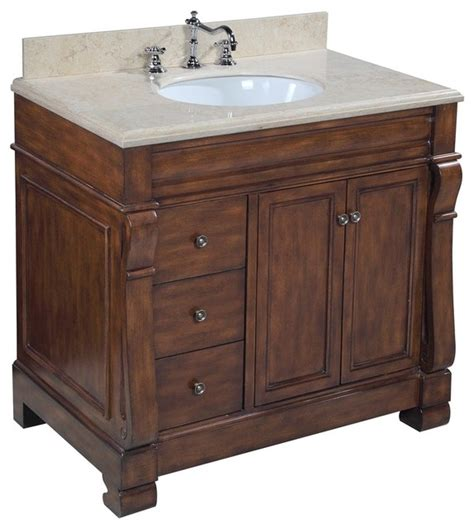 westminster bath vanity travertine brown traditional