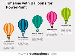 Timeline With Balloons For Powerpoint