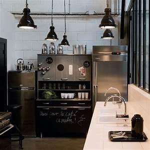 Suspension Style Industriel : la suspension le luminaire de la cuisine marie claire ~ Teatrodelosmanantiales.com Idées de Décoration