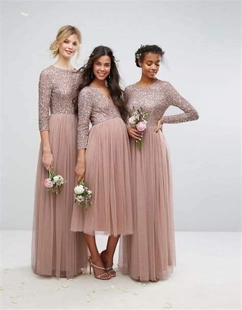 maternity plus size beaded metallic and sequined bridesmaid dresses