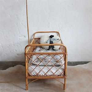 Lit Bebe Rotin : lit bebe rotin vintage e437 c atelier du petit parc ~ Teatrodelosmanantiales.com Idées de Décoration