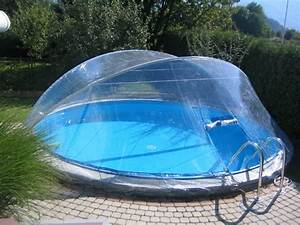 Pool Mit überdachung : cabrio dome berdachung pool abdeckung f r stahlmantel ~ Michelbontemps.com Haus und Dekorationen