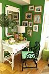 green home office Shades of Green: A Verdant Spring Decorating Palette