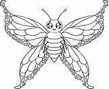Butterfly Coloring Pages Printable Butterflies Colour Drawings Drawing Outline Adult Draw Cartoon sketch template