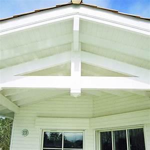 Spot Encastrable Exterieur Sous Toiture : lambris de sous face d 39 avanc e de toiture en pic a pr peint wisa pro plus lambris upm ~ Melissatoandfro.com Idées de Décoration
