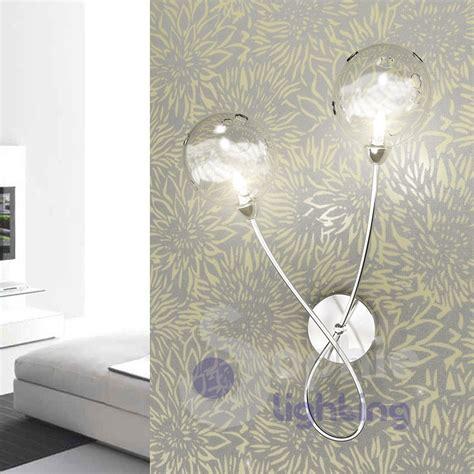 applique a muro applique muro 2 design moderno cromato sfere vetro