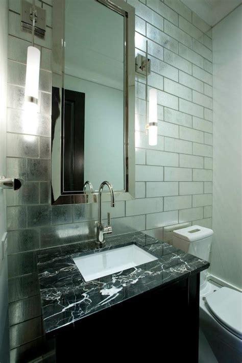 Mirror Tiles Bathroom by Sacks Beau Monde Polly Contemporary Bathroom