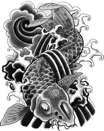 #freetoedit#tattoo #irezumi #fish #blackart #yakuza #ninja