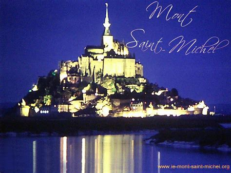 le mont michel wallpaper de nuit