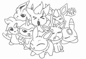 Download Pokemon Coloring Pages Eevee Evolutions All ...