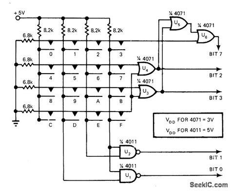 Hex Encoder For Keyboard Basic Circuit Diagram