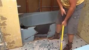 BathTub Demo - Cast Iron Bathtub Removal - YouTube
