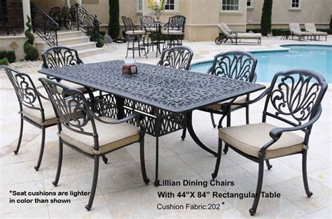 white cast aluminum patio furniture images frompo 1
