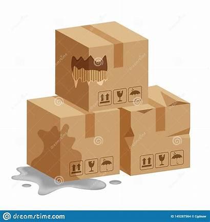 Boxes Wet Damaged Box Package Cardboard Broken