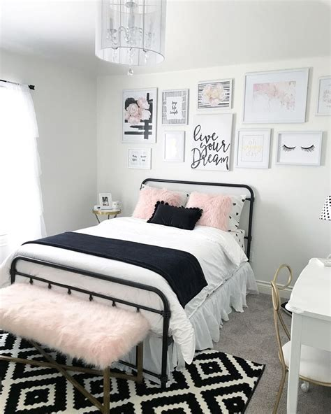 black  blush pink girls room decor great teenager