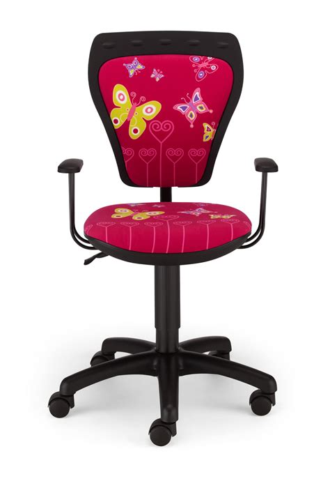kids swivel desk chair childrens cartoon butterfly pink kids computer desk