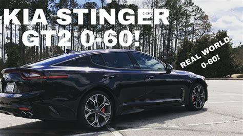 2018 Kia Stinger Gt2 0-60 Real World Timed Test Run