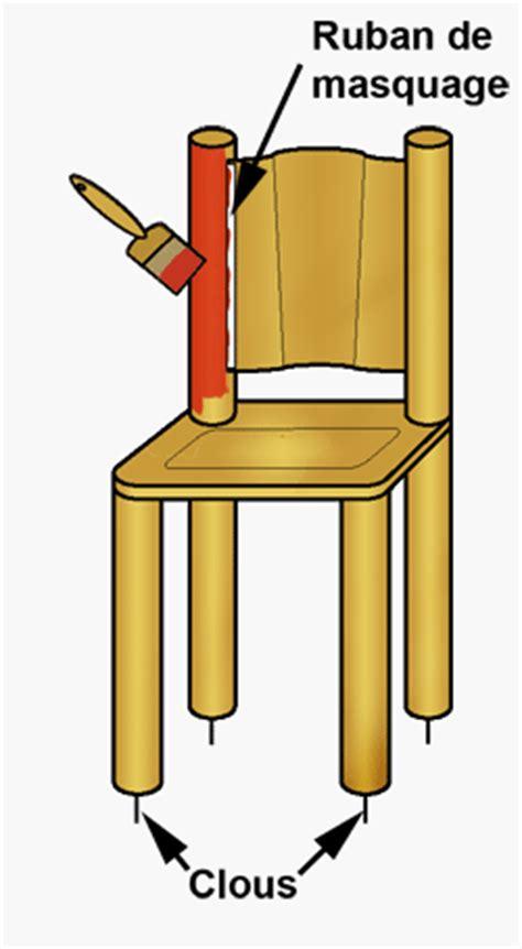 repeindre chaise en bois repeindre une chaise en bois