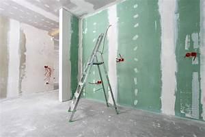 Poser Placo Mur Avec Rail : int r t et prix du placo hydrofuge ~ Melissatoandfro.com Idées de Décoration