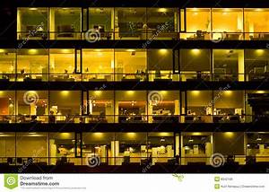 Office, Building, At, Night, Royalty, Free, Stock, Image