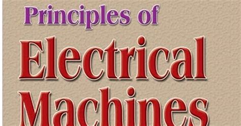 principle of electrical machines by vk mehta pdf download