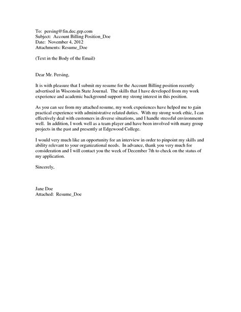 Cover Letter For Submitting Paper To Journal by Sending Resume Through Email Sle How To Properly And