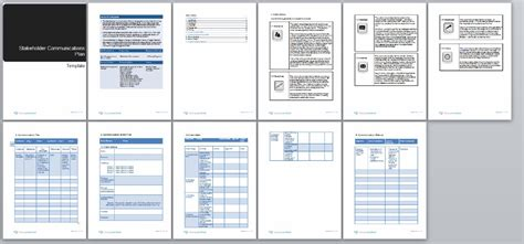 Change Management Communication Template by Stakeholder Communication Plan Change Management Methodology