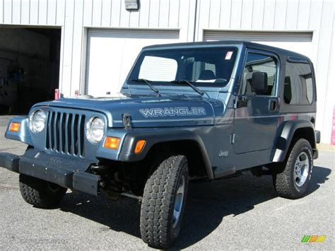 gunmetal blue jeep 1999 gunmetal pearlcoat jeep wrangler se 4x4 1093826