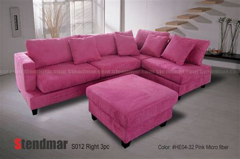 Pink Leather Sofa Set by Pink Sectional Sofa Pink Microsuede Sectional Sofa