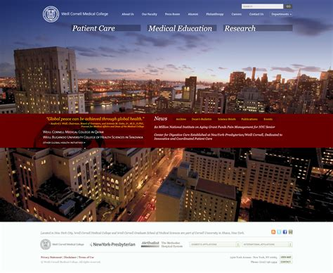 weill cornell medical college s web site redesign virgil