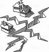 Terremoto Terremotos Grietas Edifici Rompere Disasters Coloringpagesonly Riesgos Esclusiva sketch template