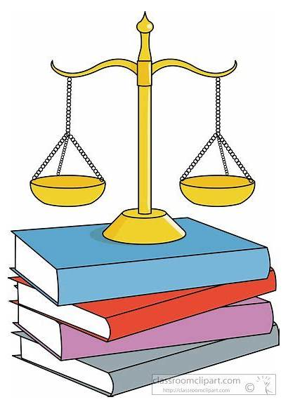 Law Legal Clipart Balance Books Clip Animated