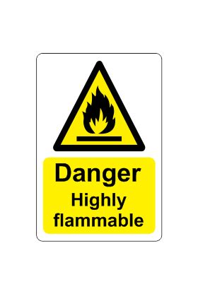 Danger - Highly flammable sign