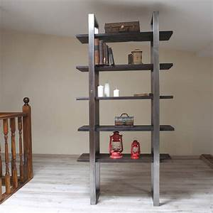 Industrial, Style, Freestanding, Shelving, Unit, By, Cosy, Wood