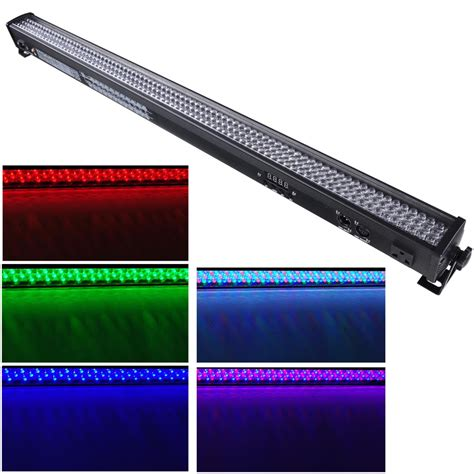 1 2 4 6pcs 252x10mm led rgb wall wash bar light dmx512 dj