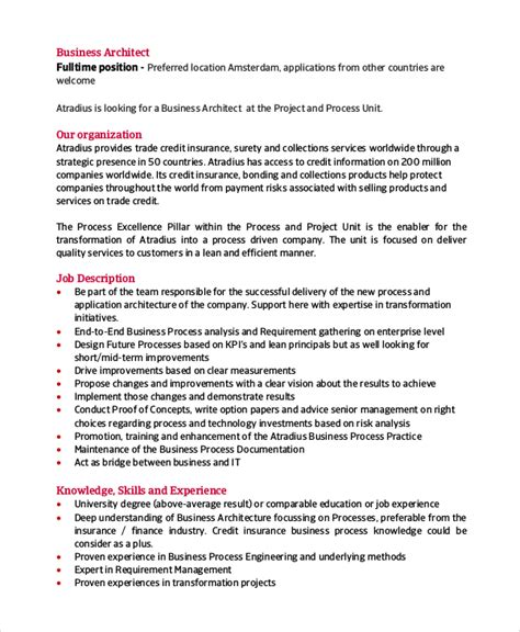 Business Architect Resume by Login Status Architectural Engineering Description Nrys Info Description Of Project
