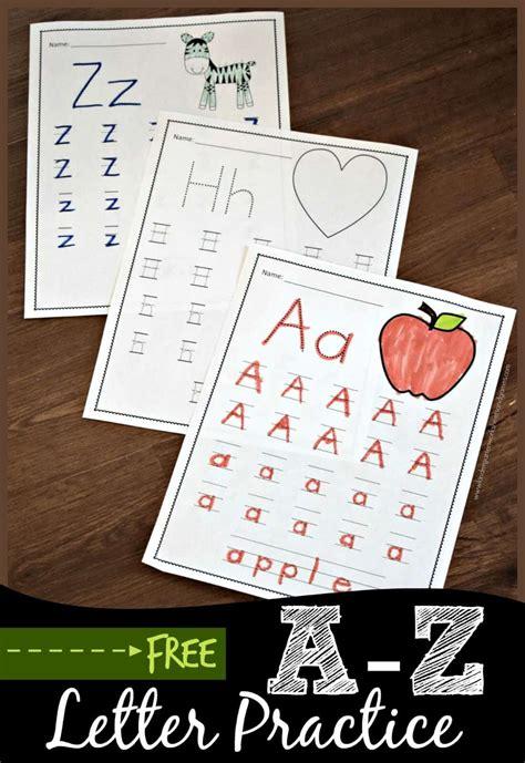 letter practice kindergarten worksheets