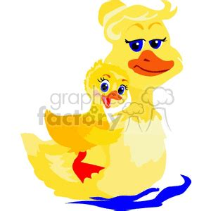 mom duck   duckling cartoon clipart images