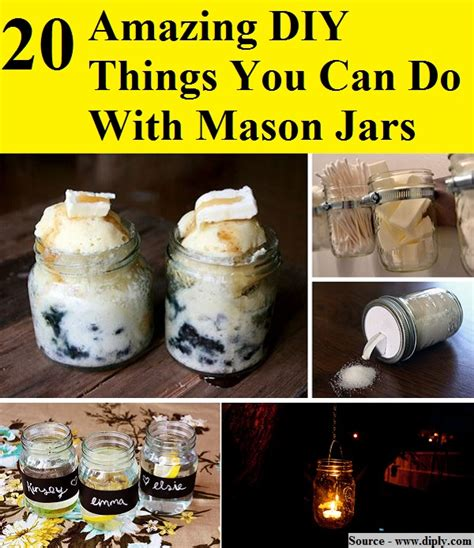 incredibly diy things you 20 amazing diy things you can do with jars home 20