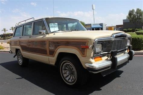 beige jeep grand 1984 jeep grand wagoneer limited 4x4 grand 95 609 miles