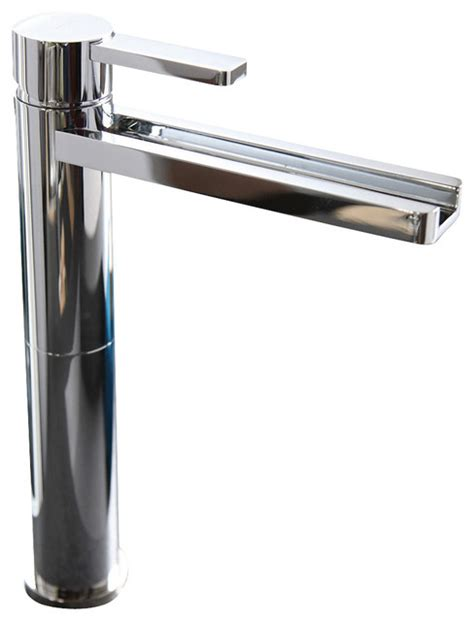 Ultra Modern Bathroom Faucets by Waterfall Ultra Modern Bathroom Faucet Polished Nickel