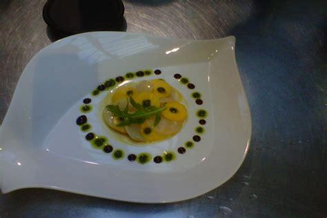 dans la cuisine nantes recette de carpaccio de jacques à la mangue