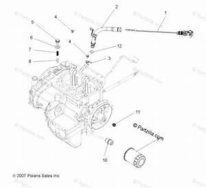Polaris Atv 2008 Oem Parts Diagram For Engine  Dipstick