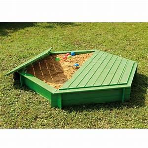 Bac En Bois Pour Jardin : bac sable bois trait hexagonal avec couvercle plantes et jardins ~ Melissatoandfro.com Idées de Décoration