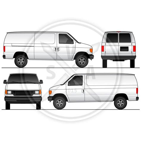 vehicle templates cargo sliding doors wrap template stock vector