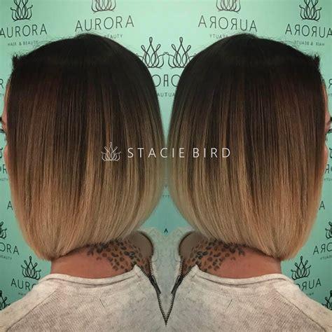 ombre  short  long bob hair