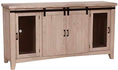 barn door media cabinet whitewood barn door media or dining cabinet ready to paint
