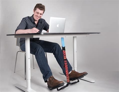 desk swing for legs hovr unconsciously burn more calories at work gadget flow