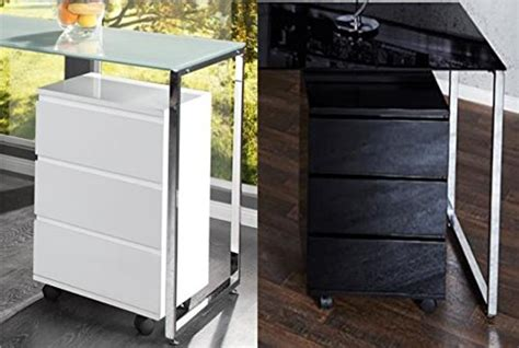 Desk On Wheels With Drawers by Zi Line Matt Black Or White Desk Home Office